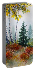 Autumn Birch Portable Battery Charger by Carolyn Rosenberger