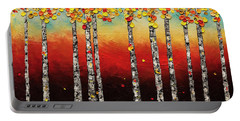 Autumn Birch Trees Portable Battery Charger