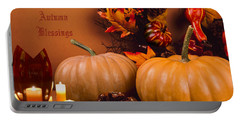 Autumn Blessings Portable Battery Charger