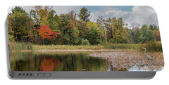 Autumn Blue Heron Portable Battery Charger