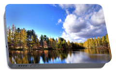 Portable Battery Charger featuring the photograph Autumn Calm At Woodcraft Camp by David Patterson
