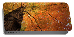 Autumn Canopy In Maine Portable Battery Charger