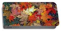 Autumn Carpet Portable Battery Charger
