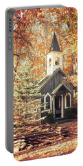 Autumn Chapel Portable Battery Charger by Joel Witmeyer