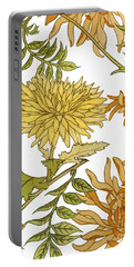 Autumn Chrysanthemums II Portable Battery Charger