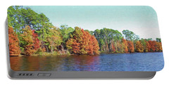 Autumn Color At Ratcliffe Lake Portable Battery Charger