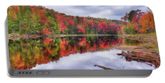 Portable Battery Charger featuring the photograph Autumn Color At The Pond by David Patterson