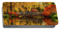 Autumn Color By The Pond Portable Battery Charger