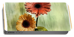 Autumn Colored Gerber Daisies Portable Battery Charger