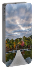 Autumn Colors At The Lake Portable Battery Charger