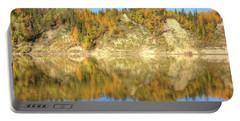 Autumn Colors On The North Saskatchewan River Portable Battery Charger by Jim Sauchyn