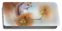 Autumn Come Softly Squirrel Portable Battery Charger