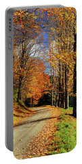 Autumn Country Road Portable Battery Charger