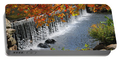 Portable Battery Charger featuring the photograph Autumn Dam by Debbie Stahre