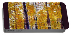 Autumn  Day In The Woods Portable Battery Charger