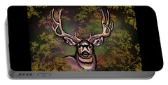 Autumn Deer Abstract Portable Battery Charger