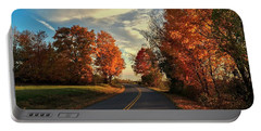 Portable Battery Charger featuring the photograph Autumn Drive by Kendall McKernon
