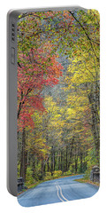 Autumn Drive Through Pisgah National Forest Portable Battery Charger