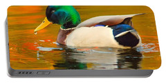 Portable Battery Charger featuring the photograph Autumn Duck by Debbie Stahre