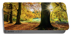 Autumn Evening In Saxony Portable Battery Charger
