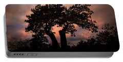Portable Battery Charger featuring the photograph Autumn Evening Sunset Silhouette by Chris Lord