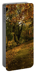Autumn / Fall By The River Ness Portable Battery Charger by Jacqi Elmslie