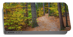 Autumn Fall Foliage In New England Portable Battery Charger