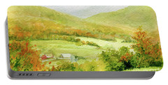 Autumn Farm In Vermont Portable Battery Charger