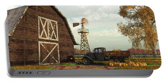 Autumn Farm Scene Portable Battery Charger