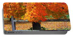 Autumn Fence Portable Battery Charger