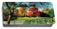 Autumn Field On The Farm Portable Battery Charger