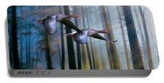 Autumn Flight Portable Battery Charger by Diane Schuster
