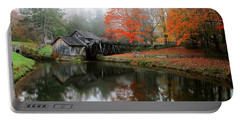 Autumn Foggy Morning At Mabry Mill Virginia  Portable Battery Charger