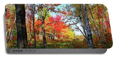 Portable Battery Charger featuring the photograph Autumn Forest by Debbie Oppermann