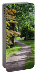 Portable Battery Charger featuring the photograph Autumn Forest Path by Scott Lyons