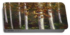 Portable Battery Charger featuring the digital art Autumn Ghosts by Amyla Silverflame