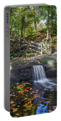Portable Battery Charger featuring the photograph Autumn Glen Olmsted Falls by Lon Dittrick