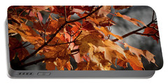 Autumn Gray Portable Battery Charger by Kimberly Mackowski