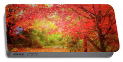 Glorious Foliage On The Rail Trail Portable Battery Charger