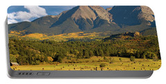 Autumn Hay In The Rockies Portable Battery Charger