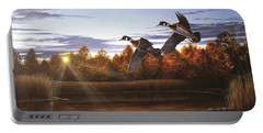 Autumn Home - Wood Ducks Portable Battery Charger