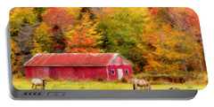 Autumn Horses Portable Battery Charger