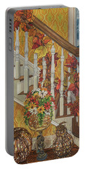 Autumn Hues Portable Battery Charger by Bonnie Siracusa