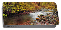 Autumn In An Oregon Rain Forest  Portable Battery Charger