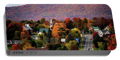 Autumn In Danville Vermont Portable Battery Charger by Sherman Perry