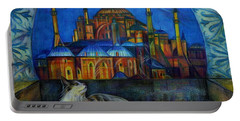 Autumn In Istanbul Portable Battery Charger by Anna Duyunova