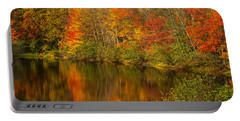 Autumn In Monroe Portable Battery Charger by Karol Livote