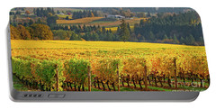 Autumn In Oregon Wine Country Portable Battery Charger