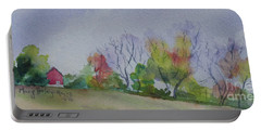 Autumn In Rural Ohio Portable Battery Charger