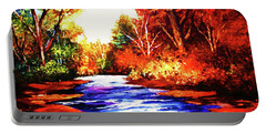 Autumn In The Deep Forest Portable Battery Charger